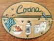 Placa para puerta cocina recipientes (Cocina)