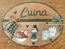 Placa para puerta cocina recipientes (Cuina)