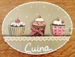 Placa para puerta cocina cupcakes (Cuina)