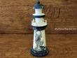Faro marinero de madera - 23 cm. (Modelo Faro con gaviota)