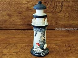 Faro marinero de madera - 21 cm.