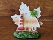 Figura marinera decorativa modelo Hoja - 9 cm. (Hoja con faro)