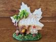 Figura marinera decorativa modelo Hoja - 9 cm. (Hoja con tortuga grande)