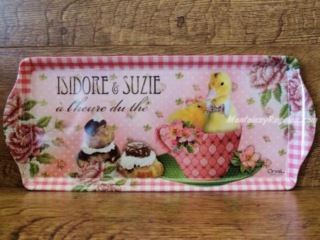 Bandeja decorada - Modelo ISIDORE ET SUZIE - 39 cm.