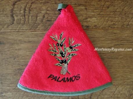 Paño redondo pequeño - Modelo OLIVAS PALAMÓS - Rojo