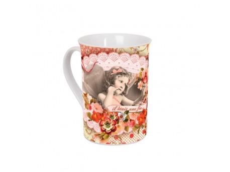 Taza de cerámica decorada modelo IL ÉTAIT UNE FÉE
