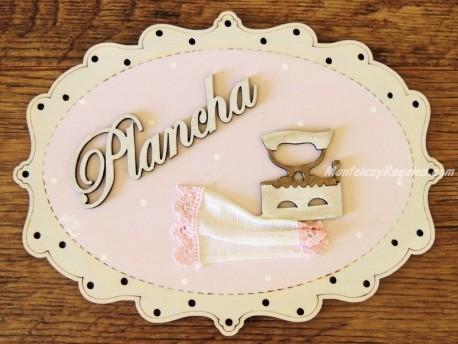 Placa para cuarto de Plancha - 20 cm. (con texto PLANCHA)
