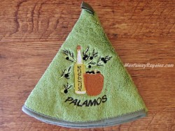 Paño pequeño - Modelo BOTELLA DE ACEITE 02 PALAMÓS - Verde