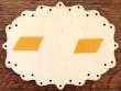 Placa de puerta Costura - 16 cm. (parte trasera con adhesivos)