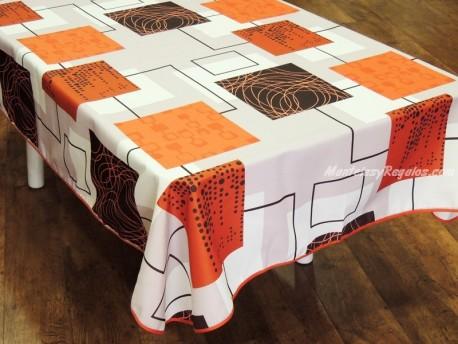 Mantel Antimanchas poliéster - Modelo WINDOWS - Naranja