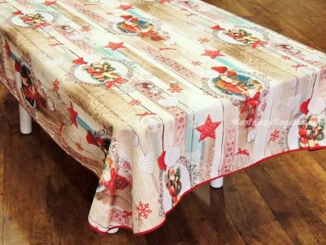 Mantel de Navidad - Modelo PAPA NOEL P06 - Beige