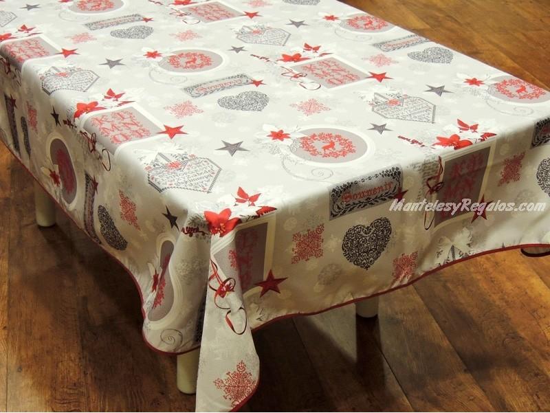 Mantel de navidad modelo navidad iniciales p08 - Manteles de navidad ...