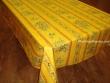 Mantel de Algodón Plastificado - Modelo CLOS DES OLIVIERS - Amarillo
