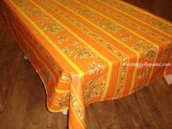 Mantel de Algodón Plastificado - Modelo CLOS DES OLIVIERS - Naranja