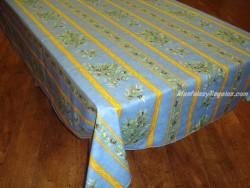 Mantel de Algodón Plastificado - Modelo CLOS DES OLIVIERS - Azul