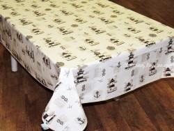 Mantel algodón plastificado - Modelo FAROS - Gris