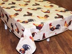 Mantel algodón plastificado - Modelo COCORICO - Beige