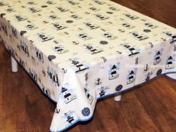Mantel algodón plastificado - Modelo FAROS - Azul