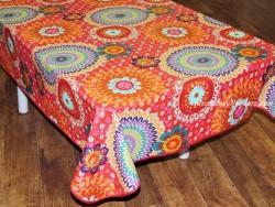 Mantel algodón plastificado - Modelo COLIMA - Rojo