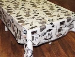 Mantel algodón plastificado - Modelo CHALUTIER - Beige