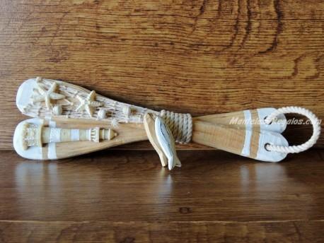 Remos madera color natural - 29 cm.
