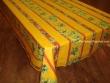 Mantel de Algodón Plastificado - Modelo MAUSSANE - Amarillo