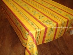 Mantel de Algodón Plastificado - Modelo UZÉS - Amarillo