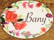 Placa para baño con flores modelo nº 3 (con texto BANY)