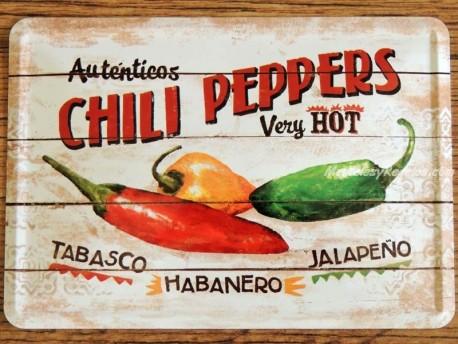 Postal metálica CHILI PEPPERS de Nostalgic-Art