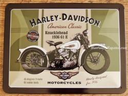 Placa metálica HARLEY-DAVIDSON 1.936 - 15 x 20 cm.