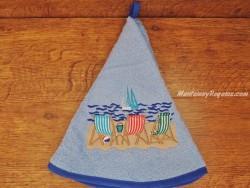 Paño de cocina - Modelo HAMACAS - Azul