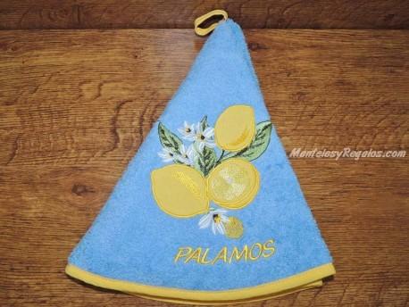 Paño de cocina - Modelo LIMONES PALAMÓS - Azul