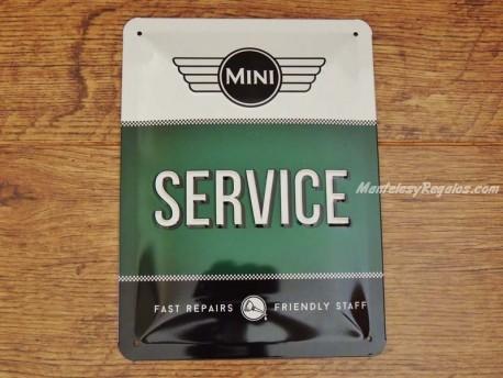 Placa metálica SERVICE MINI - 15 x 20 cm.