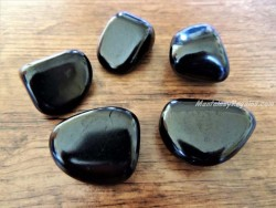 Piedras pulidas de Shungita
