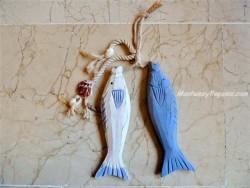 Colgador decorativo de 2 peces madera - 35 cm.