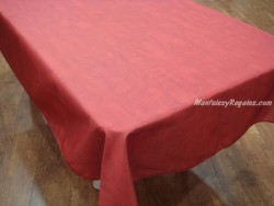 Mantel Antimanchas de Poliéster - Modelo LISO - Rojo