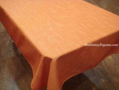 Mantel Antimanchas de Poliéster - Modelo LISO - Naranja