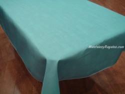 Mantel Antimanchas de Poliéster - Modelo LISO - Azul claro