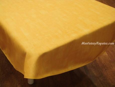 Mantel Antimanchas de Poliéster - Modelo LISO - Amarillo