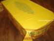 Mantel de Algodón Plastificado - Modelo CLOS DES OLIVIERS - Amarillo (Rectangular 2,50 x 1,60 mt.)